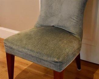 Set of 4 Lee Industries velvet chairs
