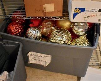 Oversized Christmas ornaments
