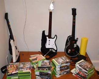 Rock Band accessories and xBox games