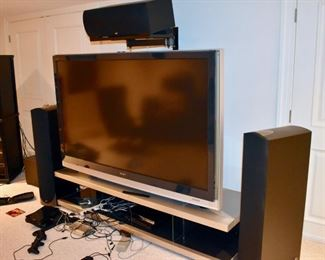 Sony TV and Paradigm Reference Studio Series speakers