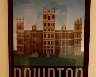 Framed Downton Abbey poster