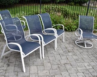 6 Patio chairs total (2 swivel, 4 side)