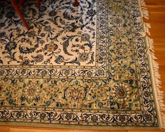 "Hand knotted Persian rug, approx. 13'4""x10'"