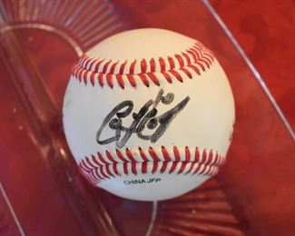 Baseball signed by Coco Crisp and others