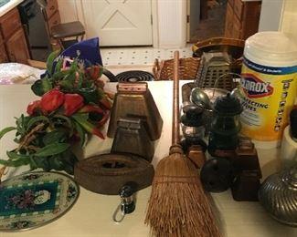 bells, vintage toaster, misc