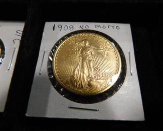 1908 $20 Saint Gaudens