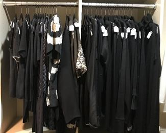 Pieces of the major closet. Here you will find black evening tops both long and short sleaves.