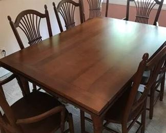 00 Dining Table and Eight Chairs