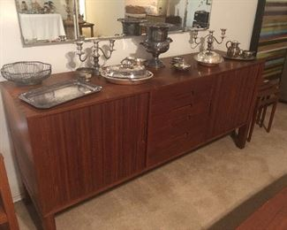 amazing. rare find- teak mid century-buffet-or stereo cabinet- sliding doors- condition is fabulous