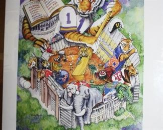 INDOOR, WING 1 LAST ROOM ON LEFT Lsu Victory Gumbo by Craig Routh-signed
