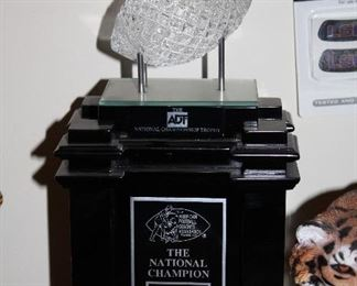 INDOOR, WING 1 LAST ROOM ON LEFT ADT NAtional Championship Trophy American Football Coaches' Assn