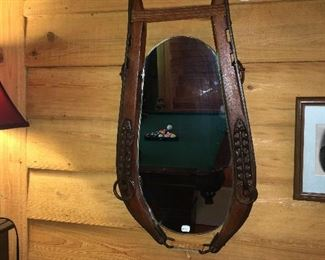 Equestrian style wall mirror