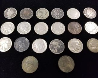 V- Nickels , Buffalo and Jefferson Nickels