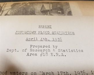 1936 Johnstown Flood scrap Book with real photo's