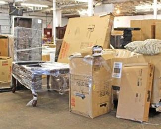 LOADS of NEW Merchandise still in boxes – to be put together still – Auction Estimate $50-$500 – Located Inside  Dock Filling nicely with Furniture – Auction Estimate $10-$500 – Located Dock