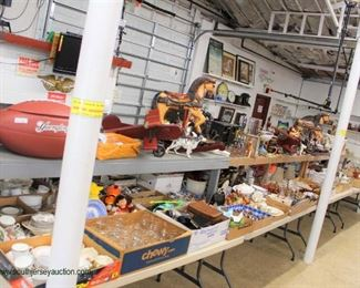 Showcases & Glassware Table & Box Lot section  starts at 9:30 am – kicks off inside auction