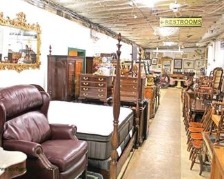 walk thru photos Inside FURNITURE section  starts at 12:30 pm – follows the dock