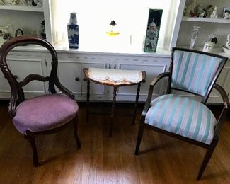 Assorted Occasional Chairs and tables