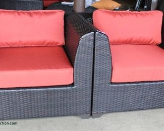 NEW PAIR of All Weather All Season Wicker Chairs with Cushions Auction Estimate $200-$400 – Located Inside
