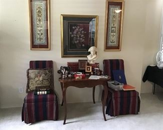 Game Table, Parsons Chairs