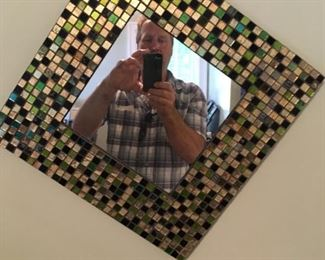 . . . a nice mirror -- goofy guy in photo not for sale, although he wouldn't cost much!