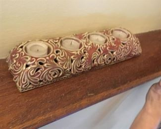 A nice pottery-style candle grouping.