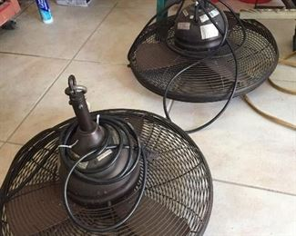 Outdoor patio hanging fans