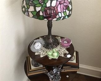 Table, stained glass lamp
