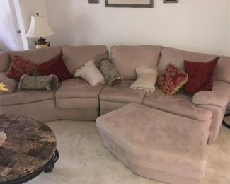 Three-piece sectional couch microfiber. $300
