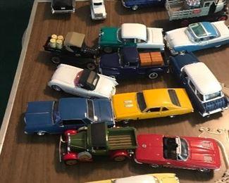 Approximately 50 die cast automobiles