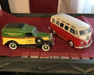 """John Deere-Limited Edition by Liberty Classics and a Volkswagon Van """"Samba"""" by Maisto Die Cast."""