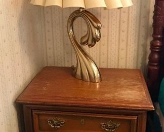 Nightstand and matching lamps