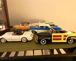 Diecast model car collection