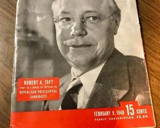 1948 Life Magazine with Robert Taft cover