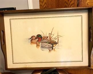Tray Art by Gregory F Messier, Mallard Ducks