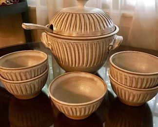 Steve Coburn Pottery - Soup toureen with bowls