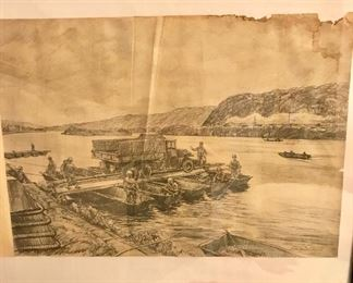WW II prints from original illustrations by S/Sgt Rudy Wedow