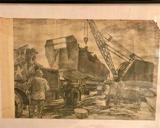 WW II prints of original illustrations by  S/Sgt Rudy Wedow