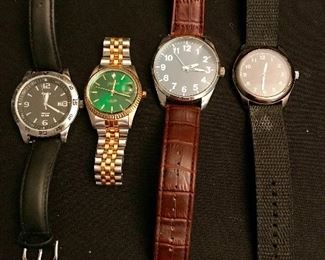 Men's watches includes Elgin & Timex
