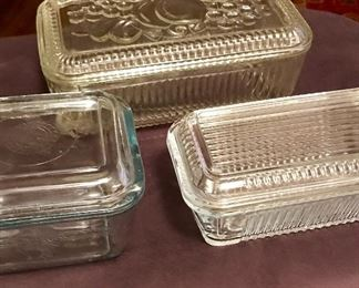 Refrigerator dishes with lids