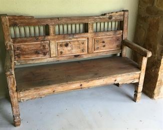 southwest rustic bench