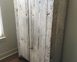 primitive double door cabinet