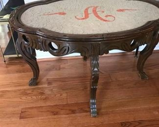 coffee table mosaic tiled top