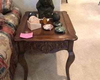 3 matching end tables solid oak, Mt Airy Furniture Co. N. Carolina 1960's