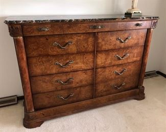 American Drew dresser with marble top