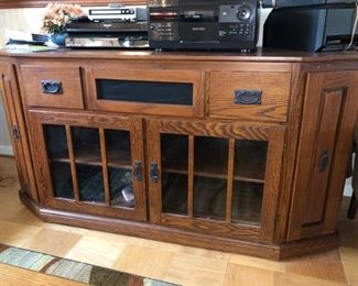 Wood TV stand....