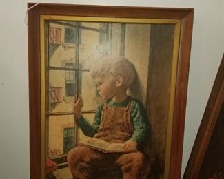 "James Chapin  ""Boy at window with book"""