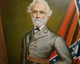 Robert E. Lee oil on canvas