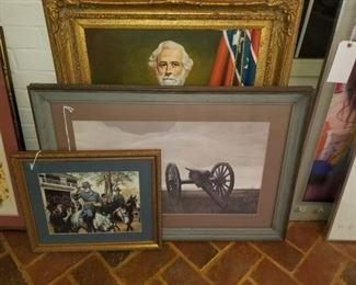 "Thomas Jefferson Knox ""Cannon"", Robert E. Lee on horse"