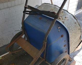 Two wheel wheelbarrow
